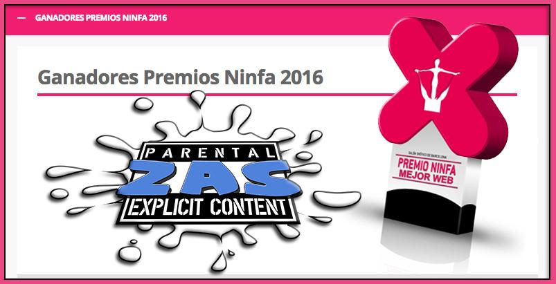 ZasXXX premio ninfa mejor web